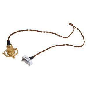 シーリング付灯具 E17用 100cm 真鍮 裸電球 インテリア 照明 アンティーク ソケット|rocca-clann