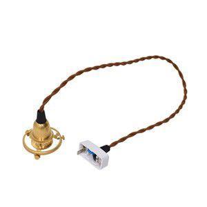 シーリング付灯具 E17用 60cm 真鍮 裸電球 インテリア 照明 アンティーク ソケット|rocca-clann