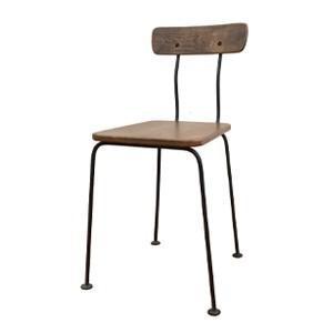 送料無料 オーク スクールチェア  鉄フレーム ジャンク  レトロ 店舗什器 椅子 いす 古道具 インダストリアル アンティークチェア アイアン 古い椅子 rocca-clann