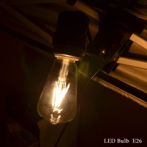 LED Bulb エジソンランプ LED電球 E26 エコ 節電 フィラメント アンティーク クラシック レトロ 裸電球 インテリア照明 LEDバルブ|rocca-clann|05