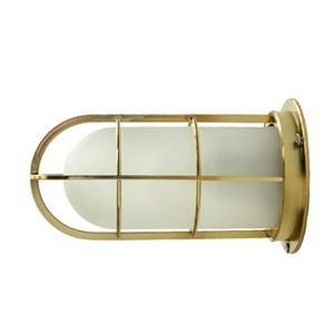 送料無料 NAVE-DK-GS デッキライト ゴールド(つや消しガラス) 船舶照明 マリンランプ  壁付け照明 サーフ 防雨 防湿  玄関灯 ブラケットライト 外灯|rocca-clann