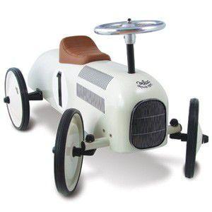 送料無料 VILAC ヴィラック レーシングカー ホワイト 乗用玩具 乗り物 車 レトロ フランス クラシックカー キッズ おもちゃ インテリア|rocca-clann