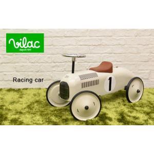 送料無料 VILAC ヴィラック レーシングカー ホワイト 乗用玩具 乗り物 車 レトロ フランス クラシックカー キッズ おもちゃ インテリア|rocca-clann|02