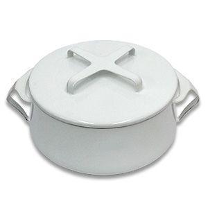 送料無料 DANSK コベンスタイルII  両手鍋 18cm ホワイト ダンスク 北欧 キッチン雑貨 調理器具 デンマーク ほうろう 琺瑯 鍋|rocca-clann