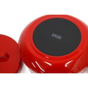 DANSK コベンスタイルII  両手鍋 18cm レッド  ダンスク 北欧 キッチン雑貨 調理器具 デンマーク ほうろう 琺瑯 鍋 赤|rocca-clann|04