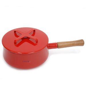 DANSK コベンスタイルII  片手鍋 18cm レッド  ダンスク 北欧 キッチン雑貨 調理器具 デンマーク ほうろう 琺瑯 鍋 赤|rocca-clann