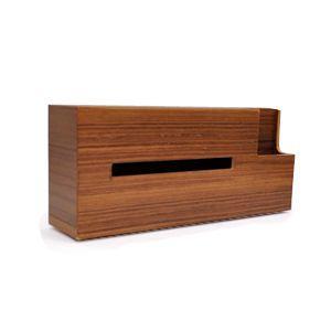 ウッドティッシュケース チーク 木製 デザイン ナチュラル シンプル|rocca-clann