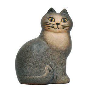LisaLarson(リサラーソン) ネコ Cat Mans グレー 置物 陶器 オブジェ 北欧雑貨|rocca-clann