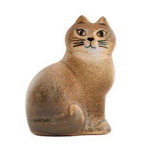 Lisa Larson リサラーソン ネコ Cat Mans ブラウン 置物 陶器 オブジェ|rocca-clann