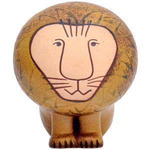 送料無料 LisaLarson(リサラーソン) Lion ライオン L 置物 陶器 オブジェ 北欧雑貨|rocca-clann
