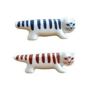Lisa Larson リサラーソン 箸置き ペア 猫 陶器 マイキー rocca-clann
