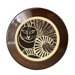 LisaLarson(リサラーソン)  益子の皿 ねこ(黒) 猫 ネコ キャット 黒猫 食器 プレート 北欧 お皿|rocca-clann