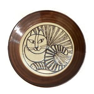 LisaLarson(リサラーソン)  益子の皿 ねこ(白) 猫 ネコ キャット 白猫 食器 プレート 北欧 お皿|rocca-clann