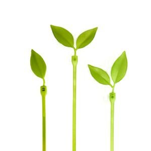 LeafTie リーフタイ エメラルドグリーン 葉っぱのケーブル結束バンド 植物|rocca-clann