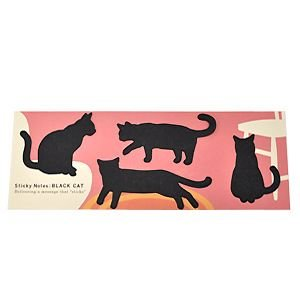 Sticky Notes BLACK CAT スティッキーノート 付箋 |rocca-clann