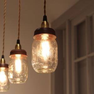 Ball Mason Jar Lamp  ボールメイソンジャーランプ ペンダントランプ レトロ エジソン電球 エジソンバルブ ガラス瓶 カフェ 店舗照明 rocca-clann 03