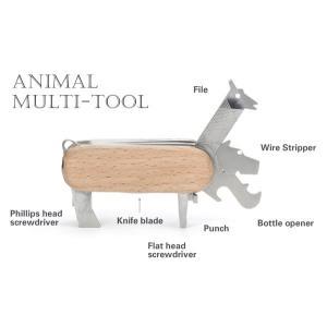 Animal Multi-tool アニマルマルチツール KIKKERLAND キッカーランド 動物モチーフ インテリア雑貨 オブジェ ナイフ 栓抜き アート|rocca-clann|04
