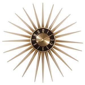 送料無料 Emits Time エミッツタイム ウォールクロック(壁掛け時計 ミッドセンチュリー モダン レトロデザイン 大型 レトロ クロック ゴールド 大きい時計|rocca-clann