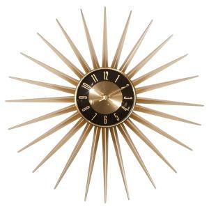 送料無料 Emits Time エミッツタイム ウォールクロック(壁掛け時計 ミッドセンチュリー モダン レトロデザイン 大型 レトロ クロック ゴールド 大きい時計|rocca-clann|02