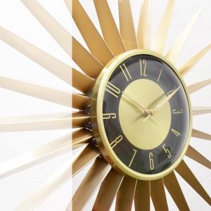 送料無料 Emits Time エミッツタイム ウォールクロック(壁掛け時計 ミッドセンチュリー モダン レトロデザイン 大型 レトロ クロック ゴールド 大きい時計|rocca-clann|05