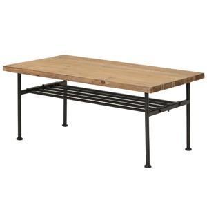 送料無料 古材 センターテーブル スチール 工業デザイン ビンテージ インダストリアル アンティーク  ローテーブル|rocca-clann