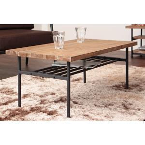 送料無料 古材 センターテーブル スチール 工業デザイン ビンテージ インダストリアル アンティーク  ローテーブル|rocca-clann|03