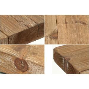 送料無料 古材 センターテーブル スチール 工業デザイン ビンテージ インダストリアル アンティーク  ローテーブル|rocca-clann|05