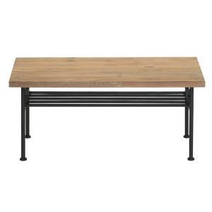 送料無料 古材 センターテーブル スチール 工業デザイン ビンテージ インダストリアル アンティーク  ローテーブル|rocca-clann|06