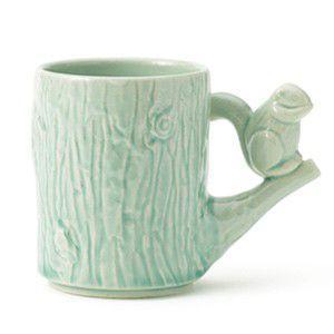 箱つぶれの為20%OFF Perch Cup Perch with shimarisu ブルー マグカップ リス|rocca-clann