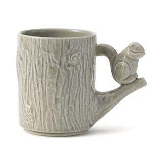 箱つぶれの為20%OFF Perch Cup Perch with shimarisu グレー マグカップ リス|rocca-clann