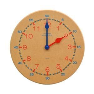 La Luz Inc. (ラ・ルース) キッズクロック カラー 知育時計 ウォールクロック 壁掛け時計 シンプル ナチュラル 子供部屋|rocca-clann