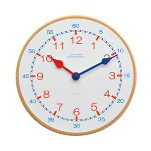 La Luz Inc. (ラ・ルース) キッズクロック トリコロール 知育時計 ウォールクロック 壁掛け時計 シンプル ナチュラル 子供部屋|rocca-clann