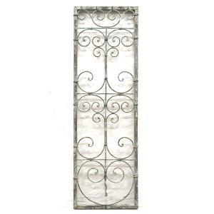 グレッド・アイアンウォールデコパネル BX-26 アンティーク 雑貨 フレンチ シャビー シック 壁飾り アイアンパネル 壁面装飾 壁掛け デコレーション クラシック|rocca-clann