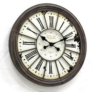 送料無料 ルーヴル・ラージクロック BX-92 アンティーク調 壁掛け時計 ウォールクロック 店舗什器 アンティーク時計 壁かけ時計 古時計 大きな時計 rocca-clann