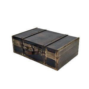 ウッデン・トランクボックスS  BO-03 アンティーク レトロ 収納ボックス ディスプレイ雑貨 結婚式 飾り クラシック 宝箱 デコレーション|rocca-clann