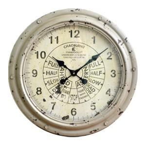 送料無料 スロットル・ウォールクロック (KI-26) 壁掛け時計 カフェ アンティーク 雑貨 古い時計 フランス 店舗什器 内装 ディスプレイ  レトロ|rocca-clann