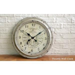 送料無料 スロットル・ウォールクロック (KI-26) 壁掛け時計 カフェ アンティーク 雑貨 古い時計 フランス 店舗什器 内装 ディスプレイ  レトロ|rocca-clann|02
