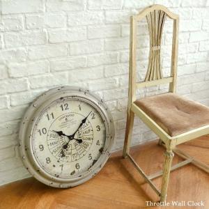 送料無料 スロットル・ウォールクロック (KI-26) 壁掛け時計 カフェ アンティーク 雑貨 古い時計 フランス 店舗什器 内装 ディスプレイ  レトロ|rocca-clann|04