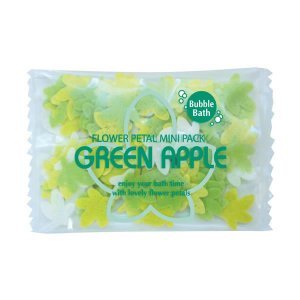 ペーパーソープ入浴剤/フラワーペタル バブルバス ミニパック グリーンアップル|rocce