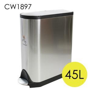 シンプルヒューマン CW1897 バタフライ ステップカン ステンレス ゴミ箱 45L simplehuman|rocco-shop