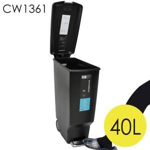 シンプルヒューマン CW1361 スリム プラスチック ステップカン ブラック ゴミ箱 40L simplehuman|rocco-shop