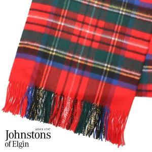 JOHNSTONS ジョンストンズ カシミア ストール 大判 タータンチェック ロイヤルスチュワート 190×70cm WA000056-KU0303『送料無料(一部地域除く)』 rocco-shop