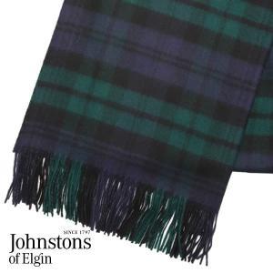 JOHNSTONS ジョンストンズ カシミア ストール 大判 タータンチェック ブラックウォッチ 190×70cm WA000056-KU0317『送料無料(一部地域除く)』 rocco-shop