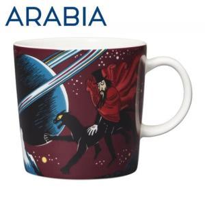 ARABIA アラビア Moomin ムーミン マグ 飛行おに 300ml Hobgoblin purple マグカップ|rocco-shop