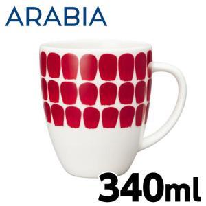 ARABIA アラビア 24h Tuokio トゥオキオ レッド マグ マグカップ 340ml|rocco-shop
