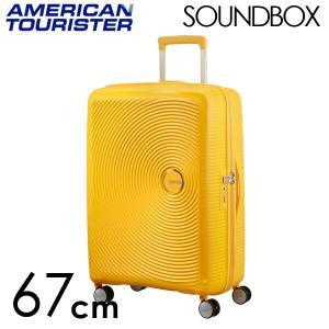 『期間限定ポイント10倍』 サムソナイト アメリカンツーリスター サウンドボックス 67cm ゴールデンイエロー Sound Box Spinner 71L〜81L EXP|rocco-shop