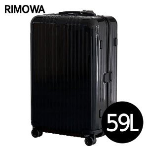 『期間限定ポイント10倍』 リモワ RIMOWA エッセンシャル ライト チェックインM 59L グロスブラック ESSENTIAL 823.63.62.4|rocco-shop