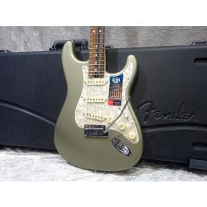 Fender USA American Elite Stratocaster Ebony Satin...