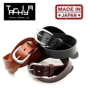 タチヤ TACHIYA 城屋 リクレンス ベルト メンズ レディース ブランド オイルレザー 日本製 レザーベルト 本革 (01-rs008kw)|rockingchair2822