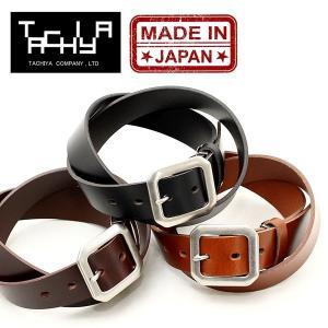 タチヤ TACHIYA 城屋 リクレンス ベルト メンズ レディース ブランド オイルレザー 日本製 レザーベルト 本革 (01-rs010kw)|rockingchair2822